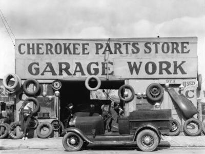 Auto Parts Shop, Atlanta, Georgia, c.1936 by Walker Evans