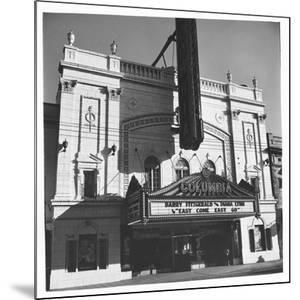 """Columbia Theater on Broadway, Showing Barry Fitzgerald and Diana Lynn in """"Easy Come Easy Go"""" by Walker Evans"""