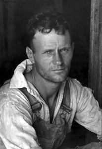 Floyd Burroughs, Cotton Sharecropper by Walker Evans