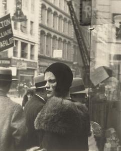 Girl in Fulton Street, New York, 1929 by Walker Evans