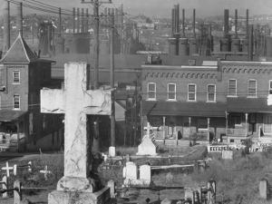 Graveyard and steel mill in Bethlehem, Pennsylvania, 1935 by Walker Evans