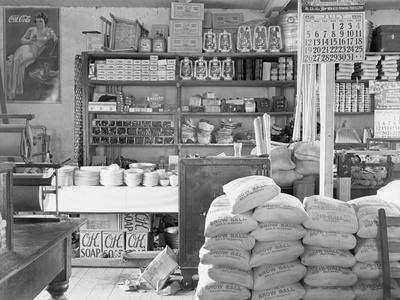 Interior of a general store in Moundville, Alabama, 1936