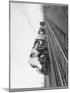 Last Steam Locomotive of Norfolk Western Railroad at Shaffers Crossing by Walker Evans