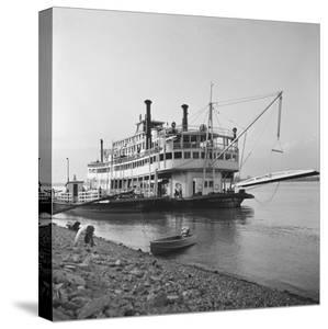 Ohio River Boat Moored at Dock on the Ohio River by Walker Evans