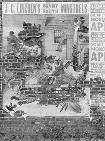 person minstrel poster, Alabama, 1936