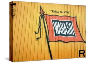 Railroad Box Car Showing the Flag Logo of the Wabash Railroad by Walker Evans