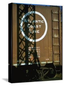 Section of Railroad Box Car W. Logo of the Atlantic Coast Line Railroad, Obscured by Shadow by Walker Evans