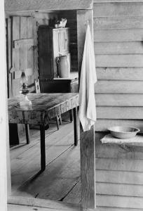 Washstand in the Dog Run and Kitchen by Walker Evans