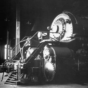 Y-6 Compound Mallet Freight Steam Locomotive Belonging to the Norfolk and Western Railway by Walker Evans