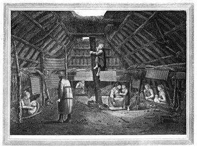 Inside of a House in Oonalashka, C1776-1779