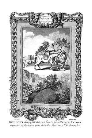 King John (1167-121) Stabbing His Nephew Prince Arthur, 19th Century