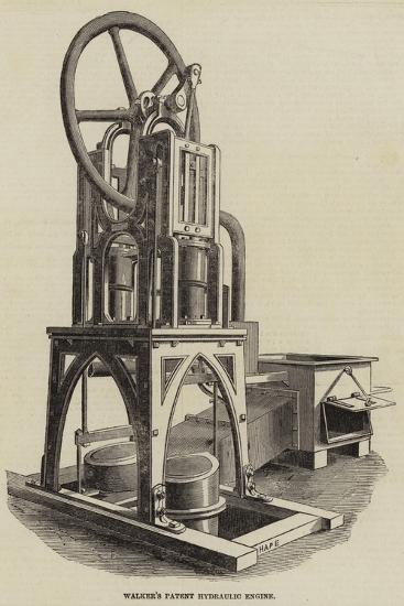 Walker's Patent Hydraulic Engine--Giclee Print