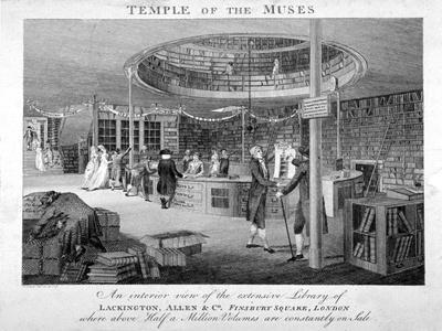 The Temple of the Muses Bookshop in Finsbury Square, London, C1810