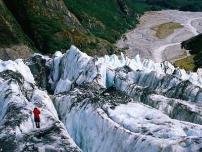 Walkers on Franz Josef Glacier, Franz Josef Glacier, New Zealand-Glenn Van Der Knijff-Photographic Print
