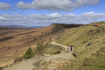 Walkers, Stanage Edge, on a Fine Spring Day-Eleanor Scriven-Photographic Print
