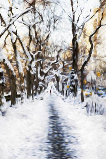 Walking Central Park - In the Style of Oil Painting-Philippe Hugonnard-Giclee Print