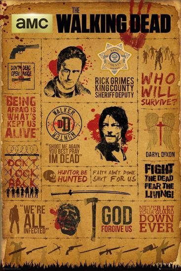 Walking Dead- Infographic--Poster