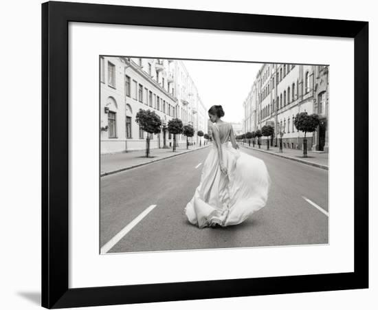Walking Down a Road-Haute Photo Collection-Framed Giclee Print