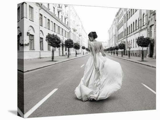 Walking Down a Road-Haute Photo Collection-Stretched Canvas Print