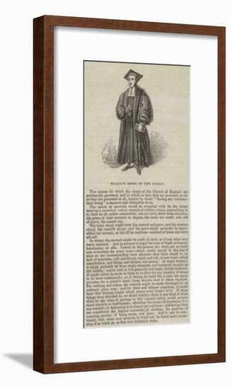 Walking Dress of the Clergy--Framed Giclee Print