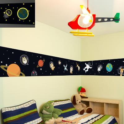 Walking in Space with Animal Friends--Wall Decal