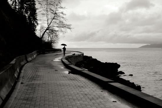 Walking in the Rain-Erin Berzel-Photographic Print