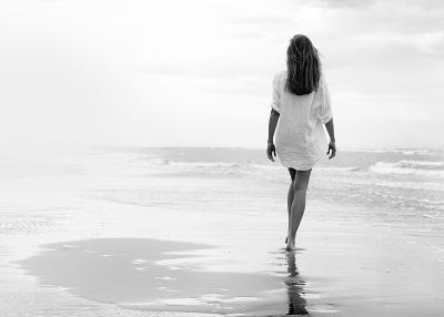 Walking on a White Beach-Marco Milillo-Art Print