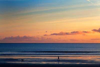Walking the Dog, Tramore, County Waterford, Ireland--Photographic Print