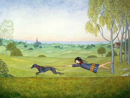 Walking the Dog-Ditz-Giclee Print