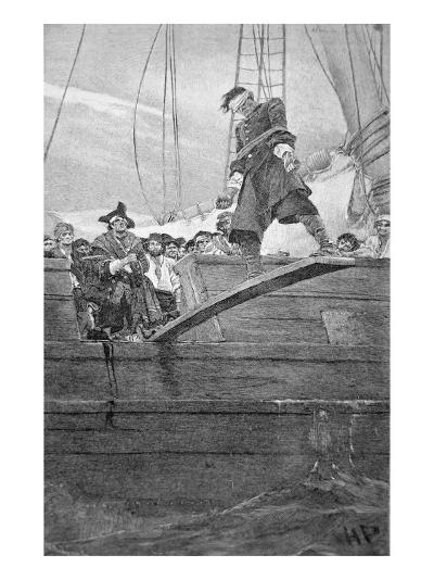 Walking the Plank, engraved by Anderson-Howard Pyle-Giclee Print