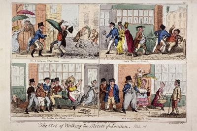 Walking the Streets of London, 1818-George Cruikshank-Giclee Print