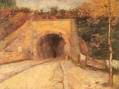 Walking Thru Viaduct, 1887-Vincent van Gogh-Giclee Print