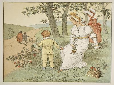 Walking to Mousey's Hall, Illustration from 'A Frog He Would A-Wooing Go'-Randolph Caldecott-Giclee Print