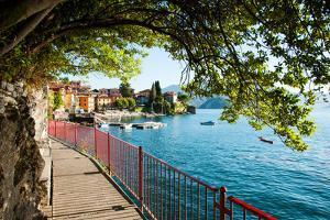 Walkway Along the Shore of a Lake, Varenna, Lake Como, Lombardy, Italy