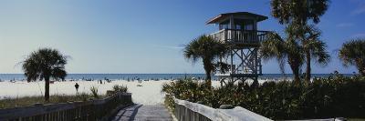 Walkway Leading to the Beach, Siesta Key, Florida, USA--Photographic Print
