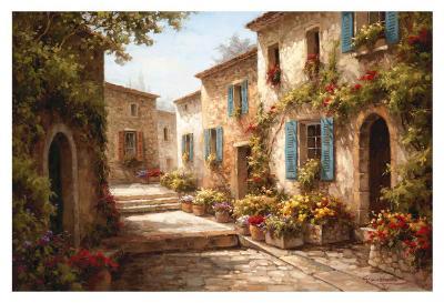 Walkway of Flowers-Steven Harvey-Art Print