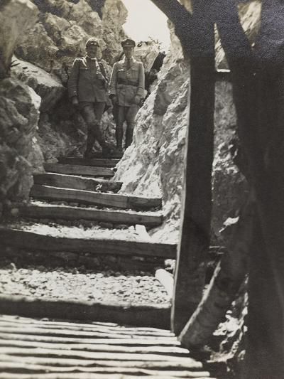 Walkway on Mount Iesa (Jeza) During the First World War-Luigi Verdi-Photographic Print