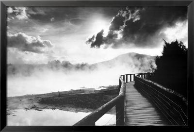 Walkway over the Lake--Framed Poster