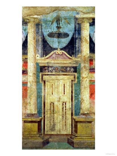 Wall Decoration from the Villa of P Fannius at Boscoreale, Near Pompeii--Giclee Print