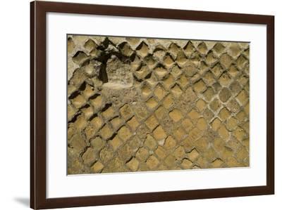 Wall Detail, Roman Site of Herculaneum, Italy-Natalie Tepper-Framed Photo