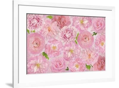 Wall Flowers Pink-Cora Niele-Framed Giclee Print
