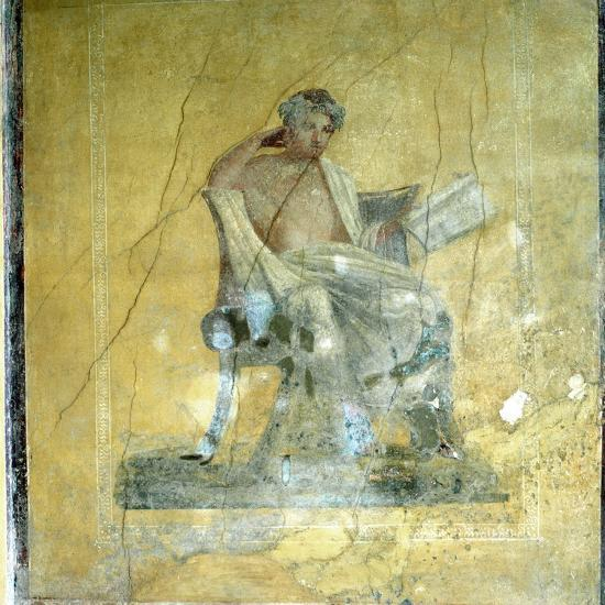 Wall Fresco, House of the Menander, Pompeii. Artist: Unknown-Unknown-Giclee Print