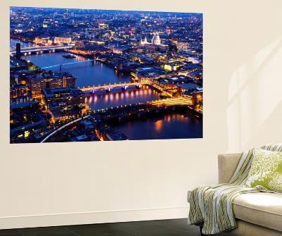 Wall Mural - View of City of London with St. Paul's Cathedral and River Thames at Night - London-Philippe Hugonnard-Wall Mural