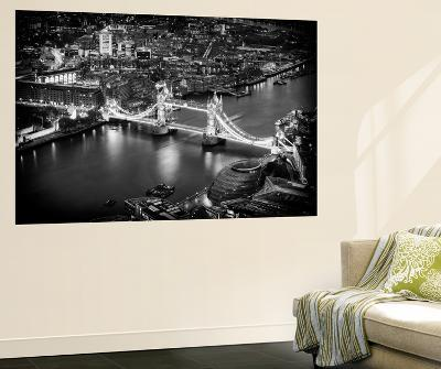 Wall Mural - View of City of London with the Tower Bridge at Night - London - UK-Philippe Hugonnard-Wall Mural