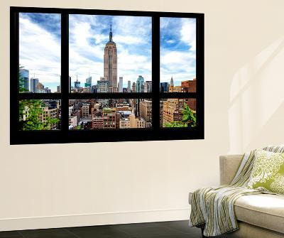 Wall Mural - Window View - Manhattan Cityscape with the Empire State Building - New York-Philippe Hugonnard-Wall Mural