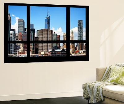 Wall Mural - Window View - Manhattan Skyscrapers with the One World Trade Center - New York-Philippe Hugonnard-Wall Mural