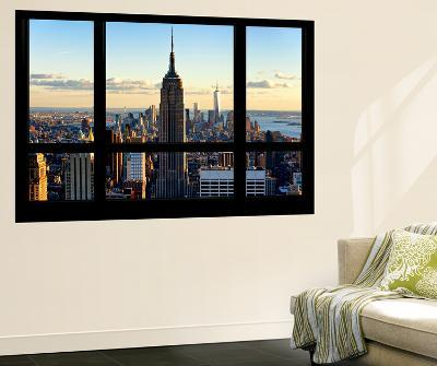 Wall Mural - Window View - Manhattan with the Empire State Building and 1 WTC - New York-Philippe Hugonnard-Wall Mural