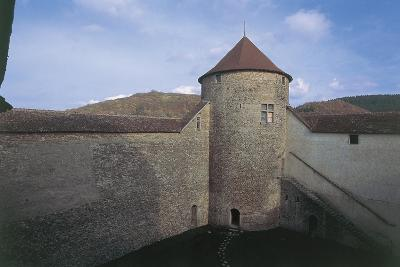 Wall of a Castle, Allymes Castle, Bugey, Rhone-Alpes, France--Giclee Print