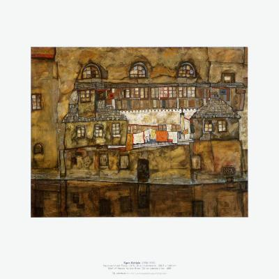 Wall of House by the River, c.1915-Egon Schiele-Art Print