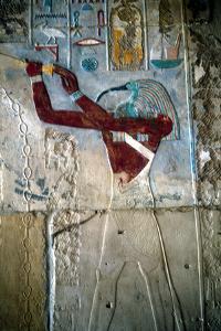 Wall Painting Depicting the God Thoth, Temple of Rameses Iii, Medinet Habu, Egypt, C1187-C1156 Bc